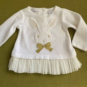 First Impressions Baby Girl Beige Dress 3-6 months